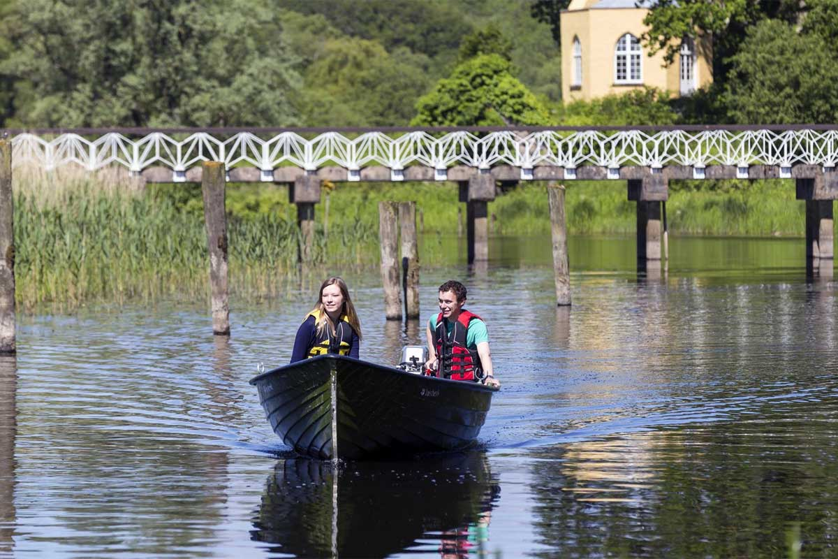 Boating at Crom Estate